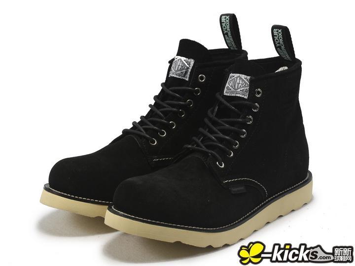 黑色麂皮鞋子搭配