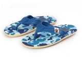 A Bathing Ape × Island Slipper 蓝迷彩 特价