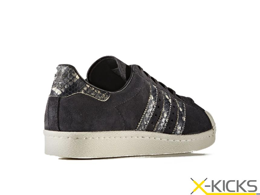 Adidas Originals 三叶草 SUPERSTAR 80S W 蛇纹贝壳头
