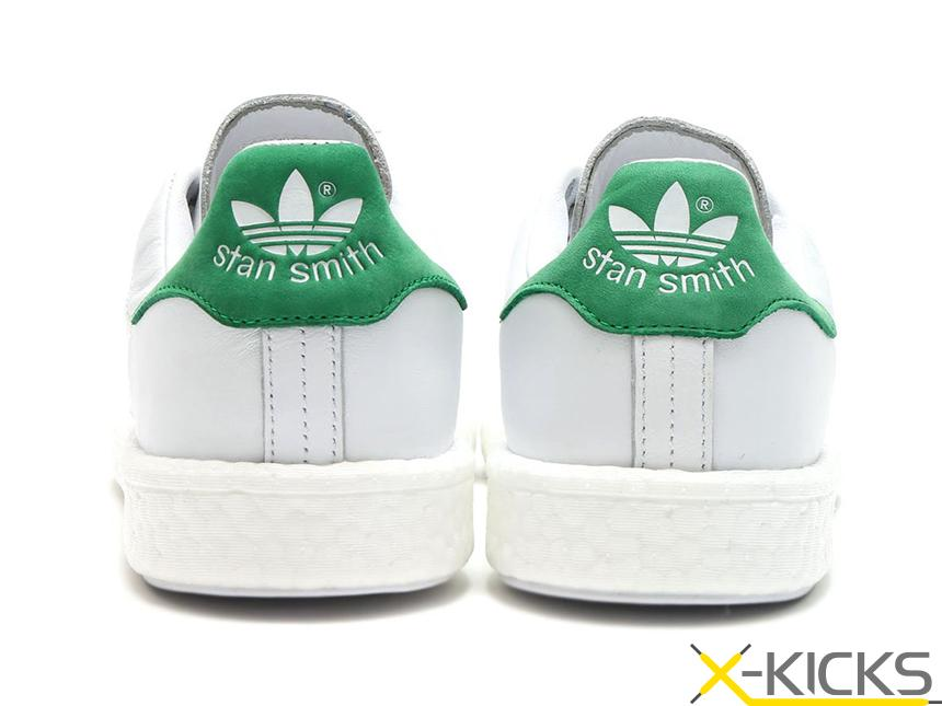Adidas Stan Smith Boost 白绿尾板鞋