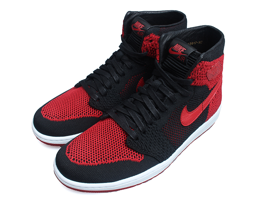 Air Jordan 1 Flyknit Banned 黑红编织 特价