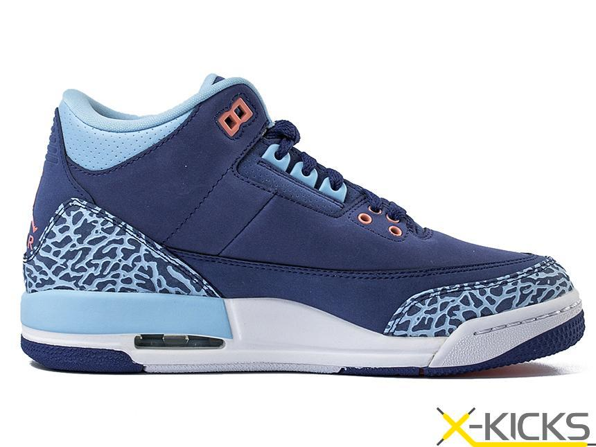 Air Jordan 3 GS Blue Cap AJ3 暗紫 篮球鞋 特价