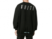 OFF-WHITE C/O VIRGIL ABLOH FW 黑色吸血鬼印花卫衣