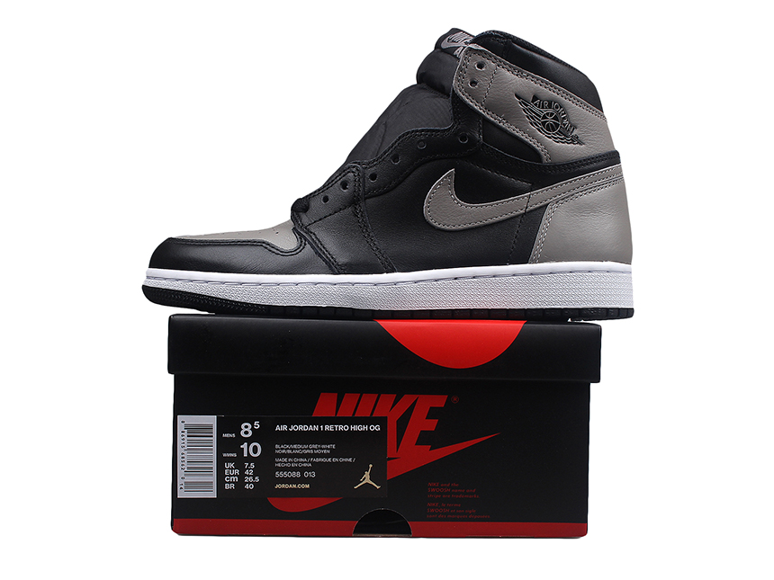 Air Jordan 1 OG Shadow AJ1 黑灰影子 酷灰 伯爵 情侣款 特价