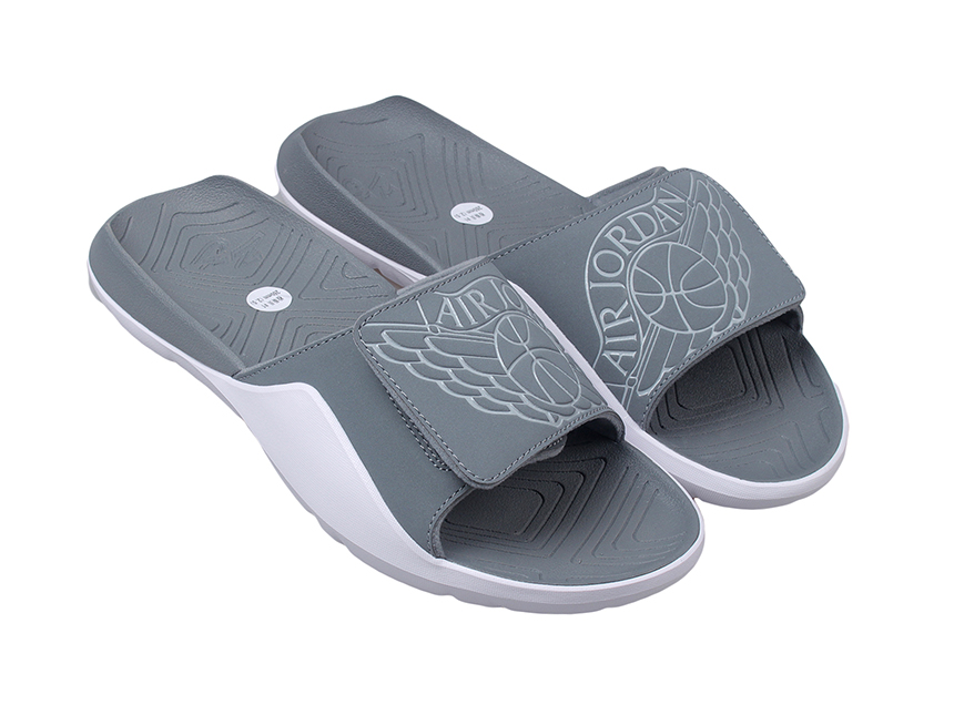 Air Jordan Hydro 7 Slide 拖鞋 灰白特价