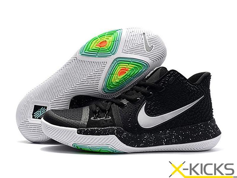 现货已到 Nike Kyrie 3 欧文3 黑白 首发配色 篮